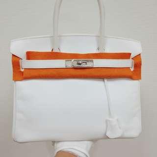 Hermes birkin 30 epsom white