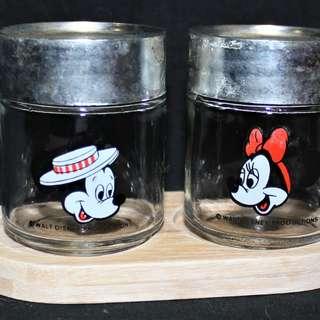 Vintage Mickey & Minnie Mouse Salt & Pepper Shakerd
