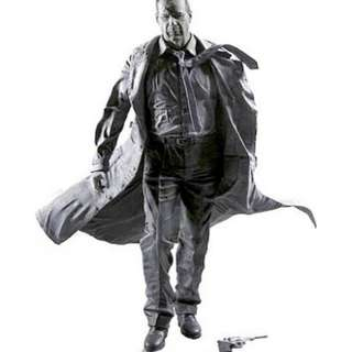 """1/4 RARE FIGURE!! SIN CITY - Hartigan Black and White 18"""" Inch Action Figure with Sound - NECA - REEL TOYS Movie"""