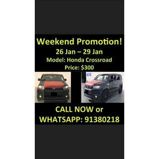 26 - 29 Jan Honda Crossroad Weekend