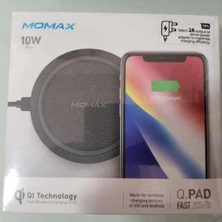 MOMAX QI Fast Wireless10W Fast Charger 無線充電器