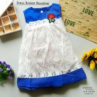 LS DRESS BROKAT ROSALINE GROSIR MIN 6PCS