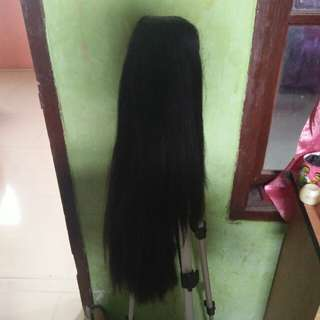 Wig no poni (black) preloved