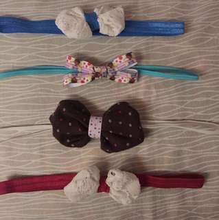 Tiny bow headband 0-6mos