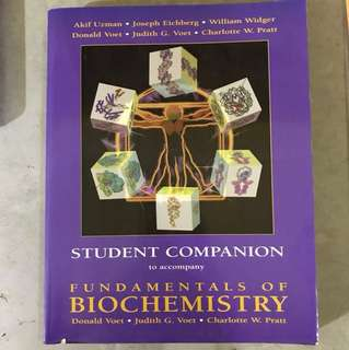 The fundamentals of biochemistry