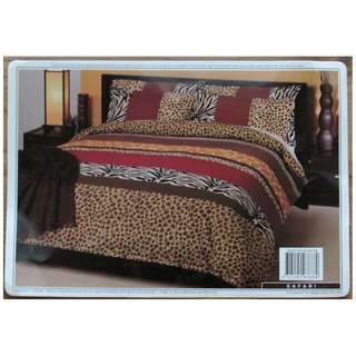 SB feather quilt plus reversible jungle print quilt cover