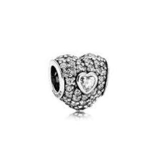 Pandora pave heart