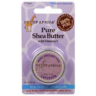Out of Africa 純乳木果油(含維生素E)薰衣草味 (0.5 oz/14.2 g) Pure Shea Butter with Vitamin E, Lavender (0.5 oz/14.2 g)