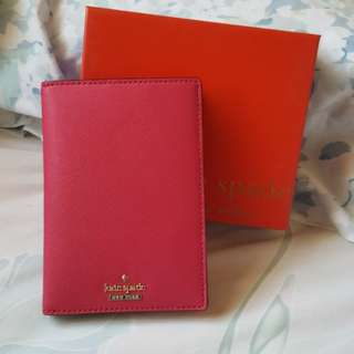 Kate Spade Authentic Passport Holder with Box