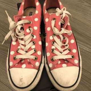 🚚 converse粉紅球鞋