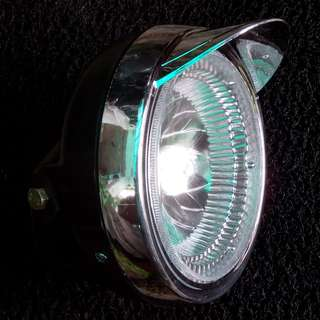 "Motorcycle 'Prince Edward' 12V/7"" Retro Headlights"