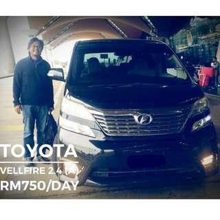 Kereta Sewa Toyota Avanza, Innova, Alphard, Vellfire, Vellfire Robot 2018