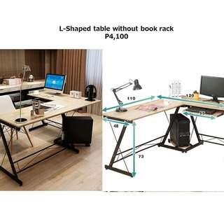 L-Shaped Desk Table