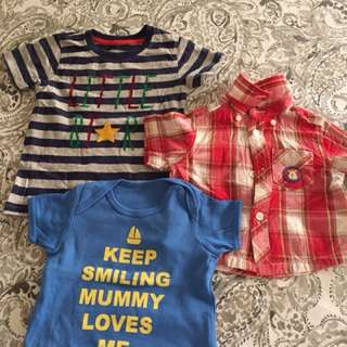 Set of 3 polo and t-shirts