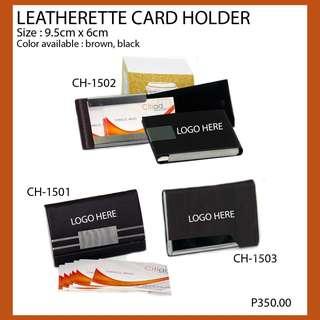 Leatherette Card Holder Pm your design