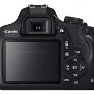 Canon 1200d with three lens in new conditon