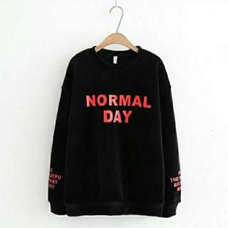 F Sweater Normal Day Black