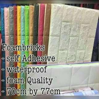 Foam Bricks Wallpaper