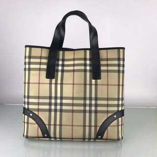 Authentic Burberry London Tote Bag