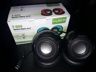 Reprice ! Dari 50rb Fleco Speaker Digital (Speaker USB langsung) BARU!!!