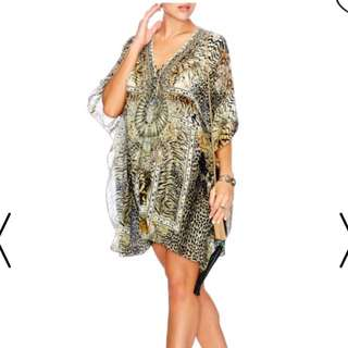 Camilla spirit animal lace up kaftan