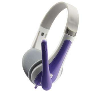 Lupuss LPS-1010 Stereo Headset w/ Microphone - Purple