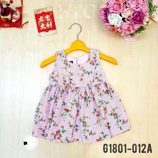 [READY STOCK]  🌸 Floral Stripes Dress
