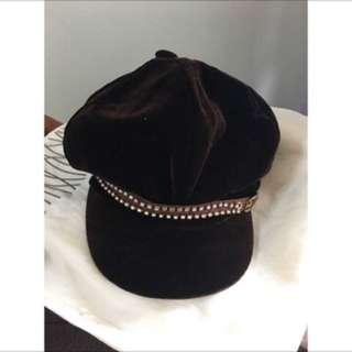 🚚 天鵝絨報童帽(年前出清)