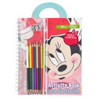 Japan Disneystore Disney Store Minnie Mouse & Figaro Dot Pattern Activity Book