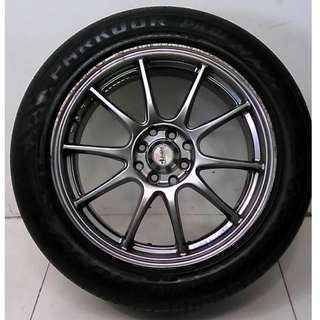17 '' Sport Rim With Tyre 4x100 4x114.3 (SR846)