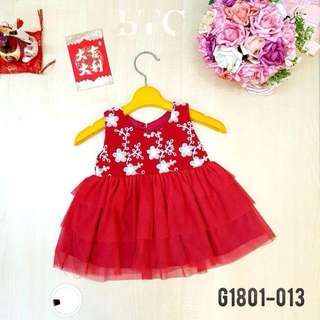[READY STOCK]  🌸 CNY Floral Tutu Dress