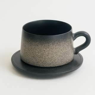 Stone Dust Cup with Saucer