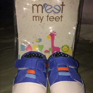 Baby boy shoes 0-6 months meet my feet brand and pitter-pat crochet