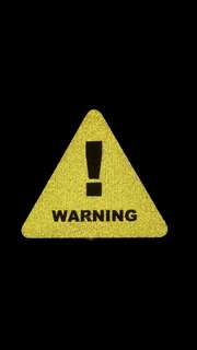 Warning Sign Reflective Decal