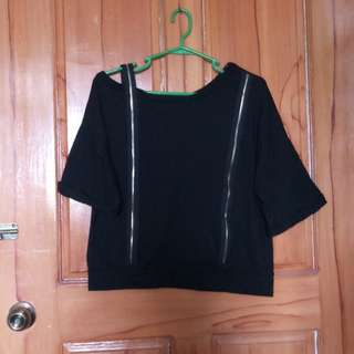 Black top used once can fit med. to large