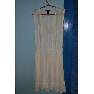 H&M OFF WHITE DRESS