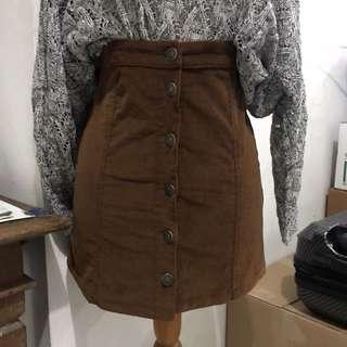 Bershka Suede Skirt