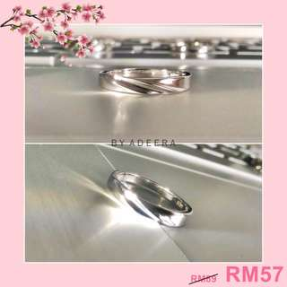 CHARMING S925 Plated Zircon Sparkle Ring