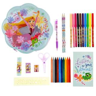 Japan Disneystore Disney Store Rapunzel Tangled Flower Animation Stationery Set Zip Case