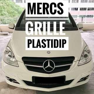 Mercs B180 Grille Emblem Mobile Plastidip Service Plasti Dip