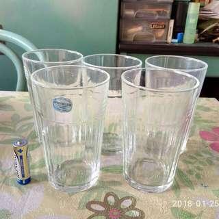 Duralex 玻璃酒杯5隻。(法国造)