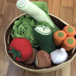 Ikea vegetable soft toy set for kids role play