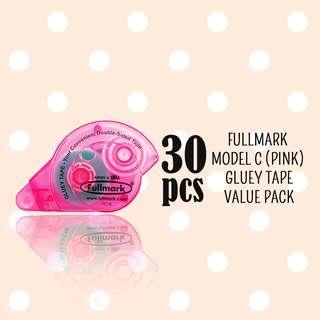 RM100 Value Pack! 30pcs x Fullmark Model C Glue Tapes, Pink