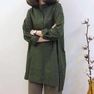 🚚 正韓 圓領長版襯衫洋裝