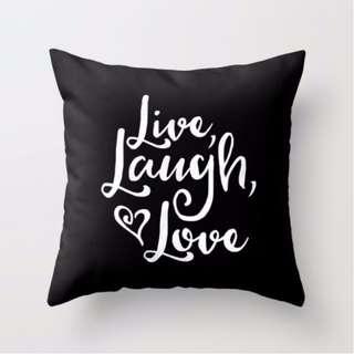 Live, Laugh, Love Throw Pillow Cushion Cover