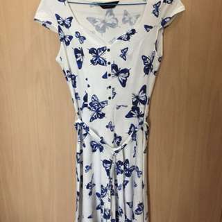 Blue butterflies dress by dorothy perkin