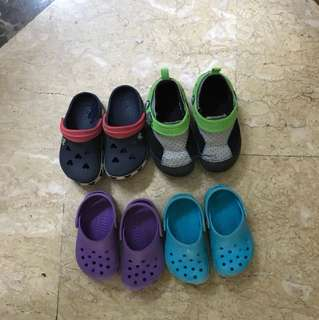 Toddler and baby boy Crocs shoes