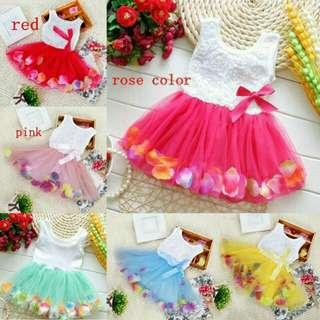 Summer Kids Girl's Petal Hem Floral Pricess Dresses