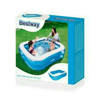 Kasur angin queen bestway blue