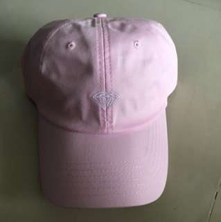 Diamond supply pink baseball strapback dad cap
